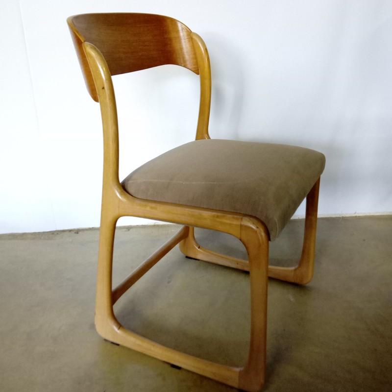 Chaise traineau réfection contemporaine